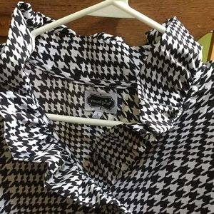 Houndstooth blouse, L (12-14)